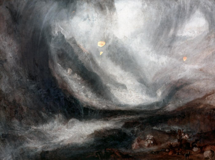 William Turner. Valley of Aosta, Snowstorm, Avalanche and Thunderstorm