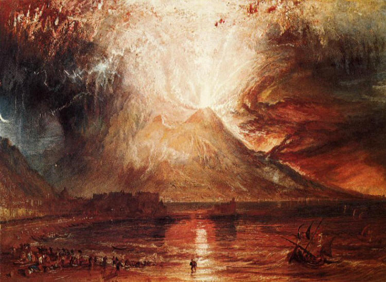 William Turner. Eruption of Vesuvius 1817