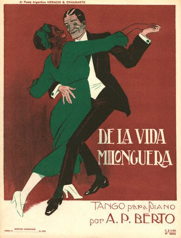 De La Vida Milonguera Tango Sheet Music Cover 1915