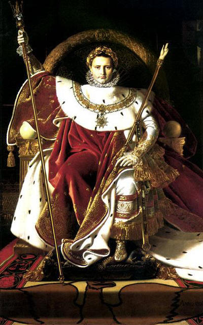 Ingres, Jean-Auguste-Dominique.  Napoleon on a throne