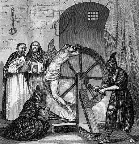 Inquisition, Fire torture on the wheel