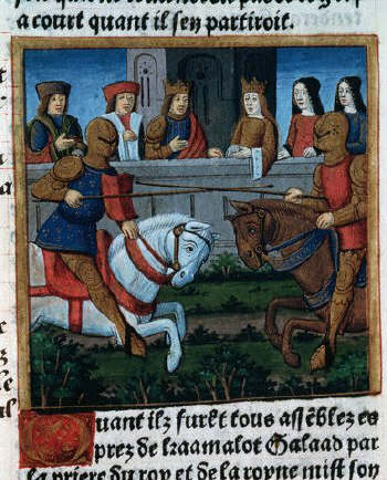 A Tournament of the Knights of the Round Table Before King Arthur