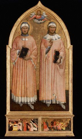 Saint Cosmas and Saint Damian by the Master of the Rinuccini Chapel