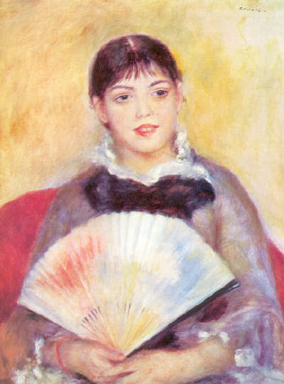 The girl with a fan by Renoir