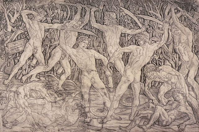 Battle of the Ten Naked Men by Antonio del Pollaiolo 1465-70