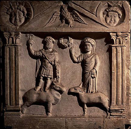 Votive Relief to Jupiter Doliqueno and Juno 2nd c A.D.