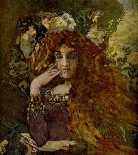 М. Врубель.  Муза 1896 г.
