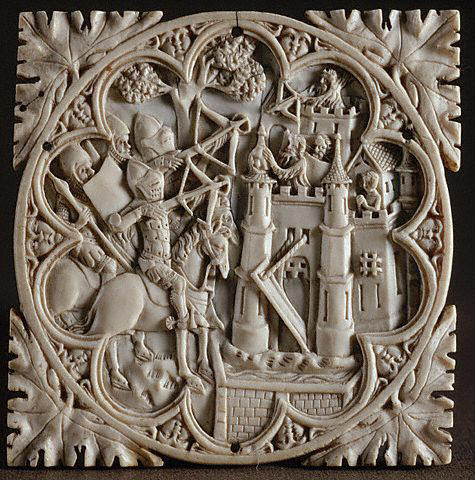 Ivory Relief Carving Depicting The Castle of Love